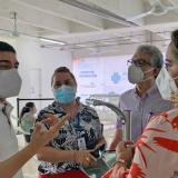 Instalan nuevo punto de vacunación contra la covid en Montería
