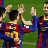 Un Barcelona alegre golea al Getafe y cree en el título de Liga