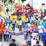 Sindicalistas se mantienen en su intención de marchar