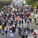 Policía entrega balance de las protestas de este lunes en Barranquilla