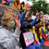 Colombianos exigen en Washington que cese la represión de las protestas