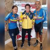 Dos medallas de oro para Colombia en la CRI de la Copa Mundo de Paraciclismo en Bélgica