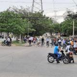 Transmetro suspende dos rutas en Soledad por bloque de vías