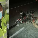 Patrullero murió en un accidente de tránsito en la Vía Oriental