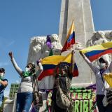 Barranquilla protesta pacíficamente con arte y cultura