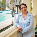 Diana Guerrero, la 'profe viajera'  del Caribe