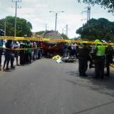 Muere motorizado arrollado por camión cargado de agua en Riohacha