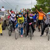 En ciclopaseo y caravana recorrieron las calles del sur de Montería