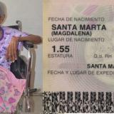 A un mes de cumplir 113 años, murió en Gaira la mujer más longeva del Caribe