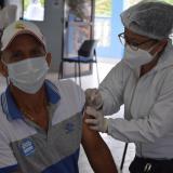 Vacunación masiva contra la covid-19 en Baranoa