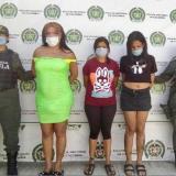 Capturadas 'Las Gatas' por extorsión en Santa Marta