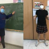 Profesores asisten en falda a sus clases para romper estereotipos