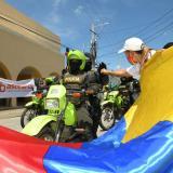 Realizan marcha en apoyo a la fuerza pública en Montería