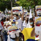 Realizan marcha contra actos violentos en Barranquilla