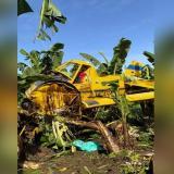Avioneta de fumigación se fue a tierra en una finca de la Zona Bananera