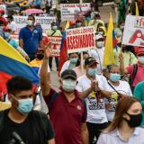 Asociación de educadores marcha en el Día del Estudiante Caído