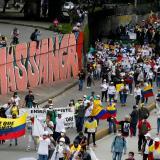 """La """"toma de Bogotá"""", con poca afluencia"""