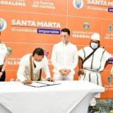 En Santa Marta firman acuerdo con indígenas para ejecutar 52 proyectos