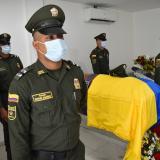 Honores a patrullero de Cartagena asesinado en Pailitas