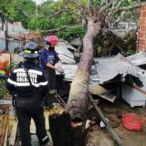 Vendaval destechó varias casas en Galapa