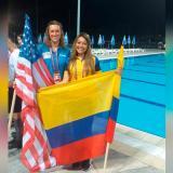 Oficial de la Armada se destacó en Campeonato de natación en Serbia