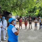 Autoridades atienden a comunidades indígenas desplazadas en Montería