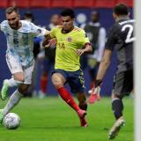 Luis Díaz se fue conforme por el rendimiento de la Selección Colombia