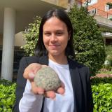 """La joven barranquillera que """"le sacó la piedra"""" al presidente Duque"""