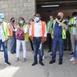Diputados inspeccionaron las obras en el Cortissoz