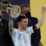 Lionel Messi fue reconocido como el mejor jugador de la Copa América