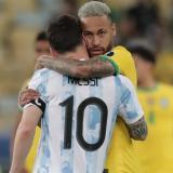 Neymar mostró su felicidad por el triunfo de Messi
