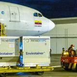 Colombia recibió este domingo un nuevo lote de 408.000 dosis de AstraZeneca