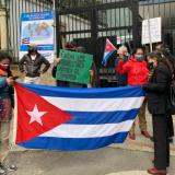 Comunes manifiesta respaldo a gobierno de Cuba en plantón