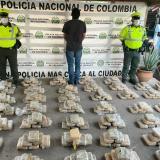 Lo capturan transportando 220 kilos de marihuana cripy