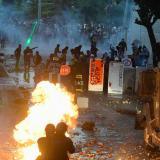 Fuertes disturbios en las inmediaciones de la rotonda de la calle 17