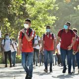 Estudiantes del Distrito asisten a su primera jornada de presencialidad