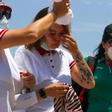 Atletla se desmaya en competencia por el fuerte calor en los Juegos Olímpicos de Tokio