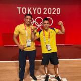 Luis Arrieta, el soledeño que ayudó a Luis Mosquera a ganar medalla de plata en los Juegos Olímpicos de Tokio