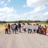 Autoridades wayuu bloquean vía en la Alta Guajira