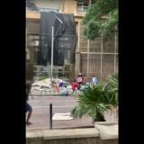 Encapuchados atacan fachada de la Alcaldía de Barranquilla