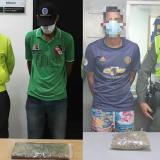 Capturan a dos con marihuana en Las Nieves y la Chinita
