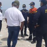 Dimar realizó visita técnica de control por erosión costera en Ciénaga