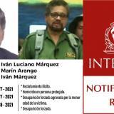 Reactivan tres circulares rojas contra alias Iván Márquez