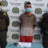 En Maicao capturaron a 'Danielito' con un revólver sin documentos