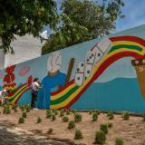 90 metros de color y arte embellecen Barrio Abajo
