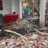 Vientos huracanados causan estragos en Cartagena