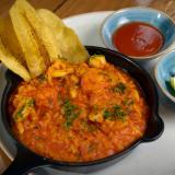 Arroz caldoso de mariscos y bowl de quibbes de Dulcerna