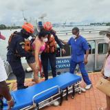 Turista peruana resultó herida con la hélice de una motonave