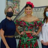 Sec. de Cultura y la reina Valeria: un solo equipo por el Carnaval