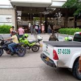 Atraco masivo en Los Andes: seis delincuentes en tres motos